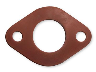 This is an irregular silicone gasket, it has one large hole in the center, and two small hole on two sides.