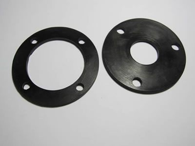 There are two round rubber pads, with different diameters.