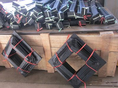 Many bellow covers are packed by plastic rope, and they are manual glued.