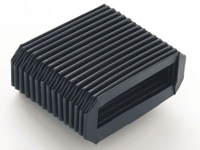This is one rectangular protective bellow made from rubber.