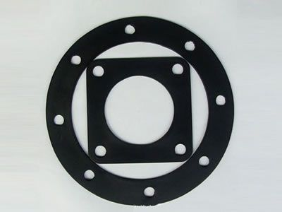 There are two rubber gasket pads in the picture, one is square shape and the other is round.